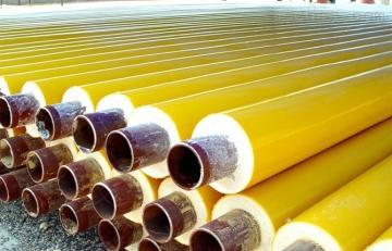 聚氨酯黑黄夹克保温管,耐高温直埋保温管