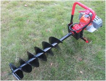 挖坑机汽油二冲程劲大挖坑机果树汽油地钻坑 操作
