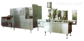 中南藥機廠家直銷DGZ8型口服液洗烘灌裝軋聯動機