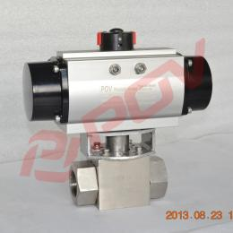Q611N锻钢高压螺纹气动球阀