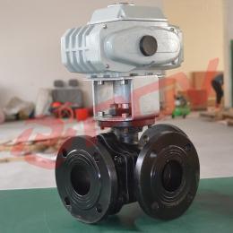 Q944Y法兰式电动三通L型球阀