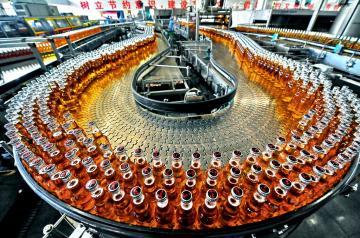 定制果酒果醋饮料生产线设备|玻璃瓶装苹果醋全套生产线设备