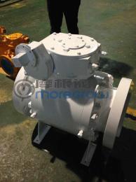 Q347N-150LB大口径锻钢法兰球阀