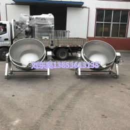 600L夹层锅电加热蒸煮锅 可倾式电加热夹层锅