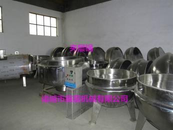 鑫富-600L电加热可倾斜式熬酱夹层锅 带搅拌化糖锅 工业用高温蒸煮锅