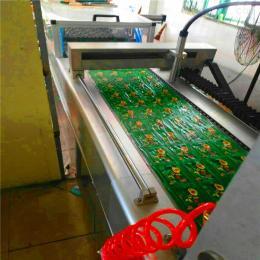 420厂家直销图片不锈钢全自动拉伸膜鸭蛋,玉米,鸡蛋干,烤鸭,鸡翅,真空包装机