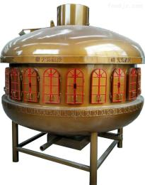 UFO圓形無煙炭火太空艙烤魚爐設備 8分鐘同時烤12條魚