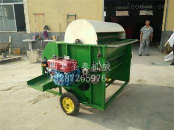 ST400青毛豆采摘機視頻 快速采摘毛豆機器廠家