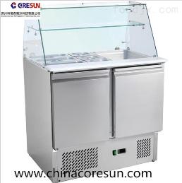 不銹鋼兩門冷藏保鮮工作臺沙拉臺|S900SQ
