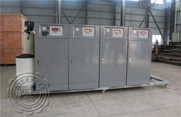 锅炉厂zui新推出撬台式锅炉4台50KW免检电蒸汽发生器串联组合平台功率可比200KW