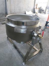 夹层锅200L山东不锈钢立式可倾带搅拌熬糖夹层锅