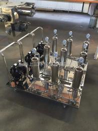 ss-xs226-1-20移动小推车滤芯过滤器 三级过滤系统