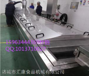 SQ-6米叶菜漂烫杀青流水线 蕨菜漂烫冷却机 竹笋蒸煮漂烫机