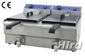 WF-132V双缸电炸炉商用油炸锅户外油炸油条机薯塔机炸串炸鸡排炸薯条设备