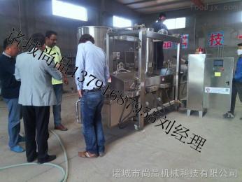 SPDZ-4000熱銷臺式烤腸油炸機 玉米腸連續油炸機價格