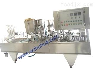 片膜型果汁飲料灌裝封口機-灌裝封口機廠家-滬華機械