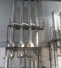 啤酒酵母粉三效降膜蒸发浓缩器